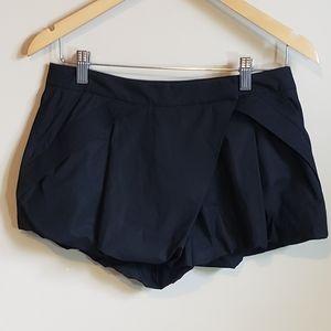 L.A.M.B. Gathered Black Shorts Size 4